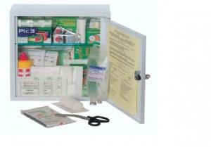 Gima FIRST AID CASE - MEDIUM KIT - metal cabinet