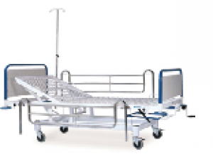 K008 - A GAS–SPRING HOSPITAL BED WITH SINGLE ADJUSTMENT