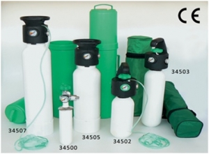 Oxygen Cylinders with pressure reducer 2 Lit.  34502 (Italy)