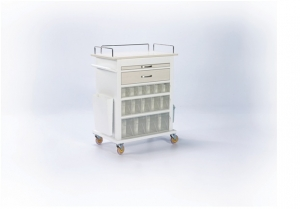 Promek MEDICINE AND TREATMENT CART 30 MEDICINE STORAGE BOX (P-TA
